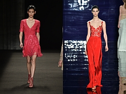 New York Fashion Week A/W 14/15 Monique Lhuillier (links), Reem Acra