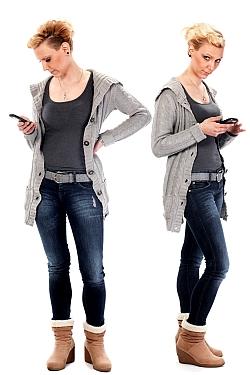 Stiefelette mit Jeans